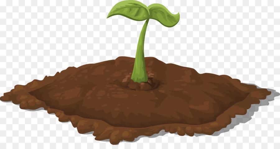 svg stock Leaf cartoon tree plant. Soil clipart.
