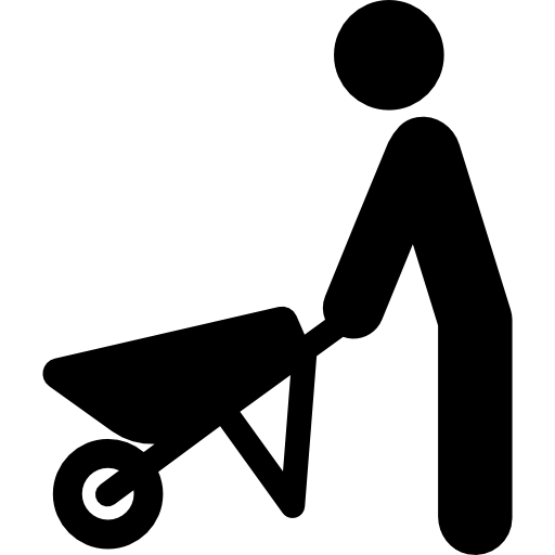 png library library Soil clipart black and white. Agriculture worker barrow work