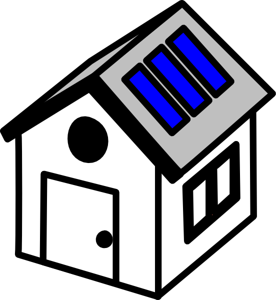 graphic library library  d house panels. Solar clipart
