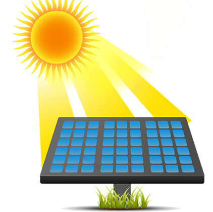 clipart black and white library  collection of power. Source clipart solar cell.