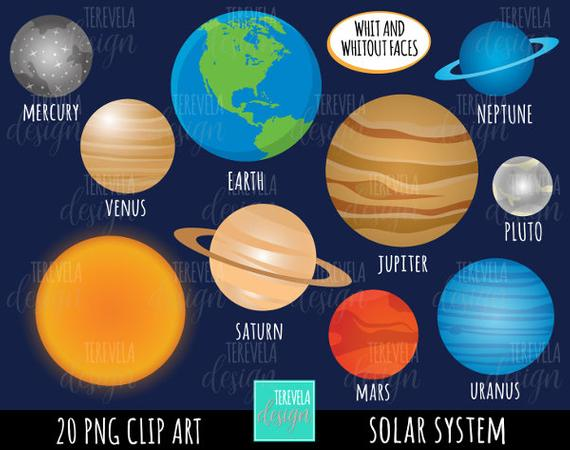 royalty free library Solar system clipart.  sale commercial use.