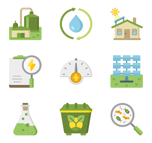 banner freeuse library Renewable energy Icons