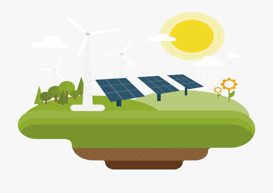 banner free Wind power renewable . Solar system clipart solar energy