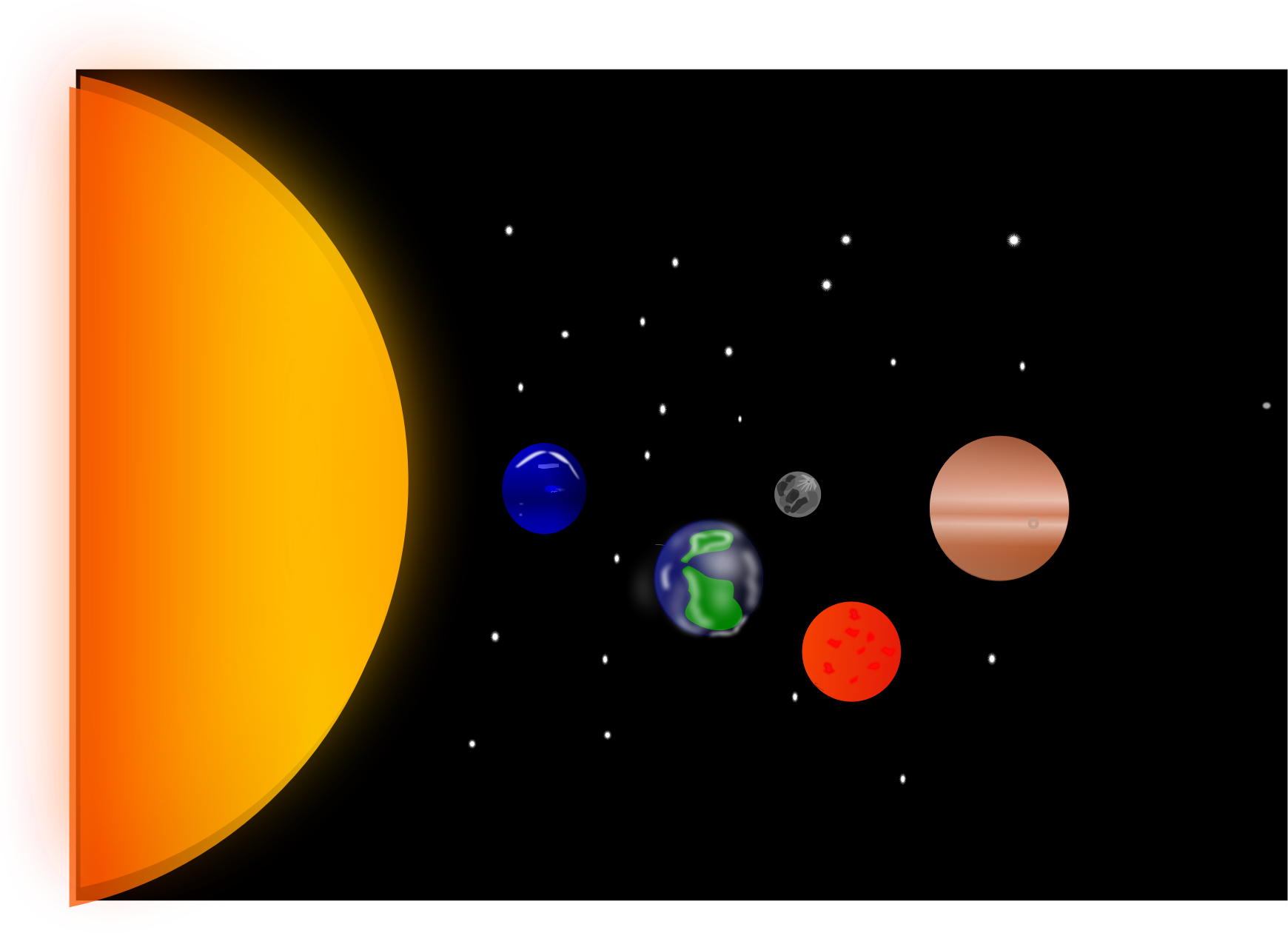 banner royalty free library Solar system clipart. Big image png