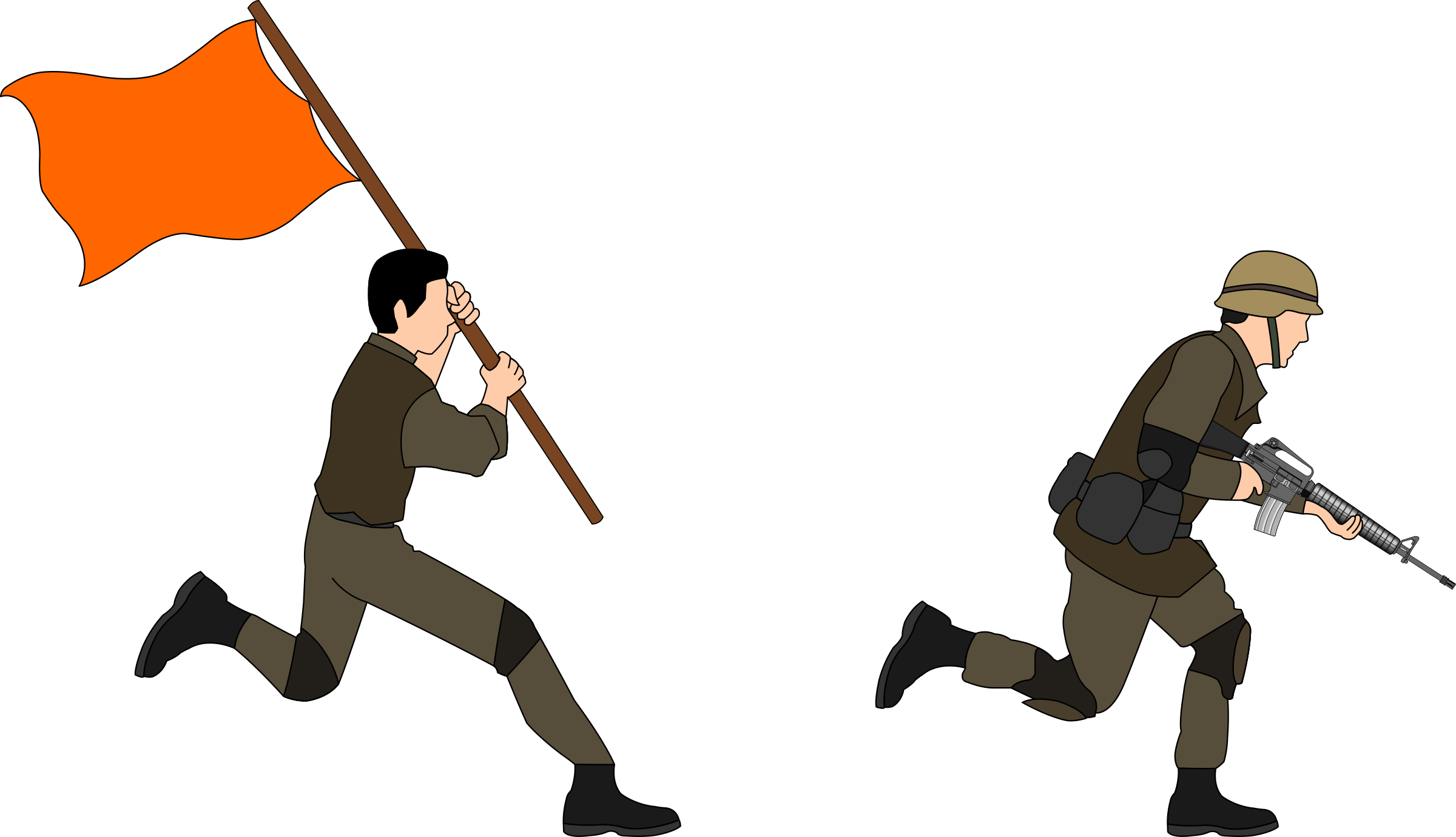 png library stock Charging big image png. Soldiers clipart