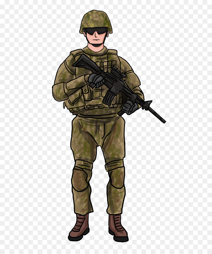 jpg transparent library Clipart army soldier. Gun cartoon uniform transparent.