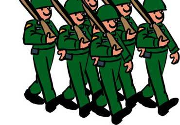 jpg royalty free stock An army of portal. Soldiers clipart.