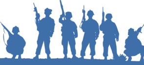 image library library Soldiers clipart. Silhouette clip art at