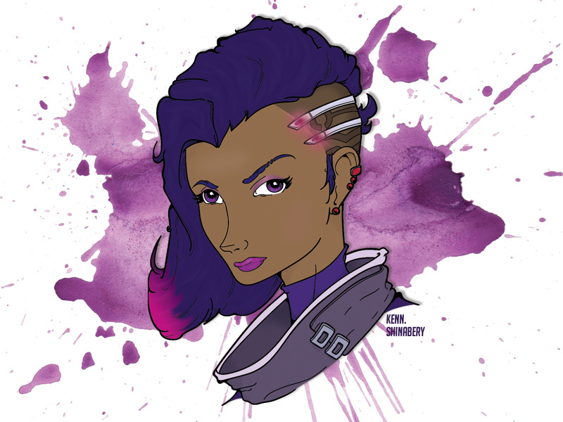 clipart transparent download Sombra vector. Overwatch graphic by kenneth