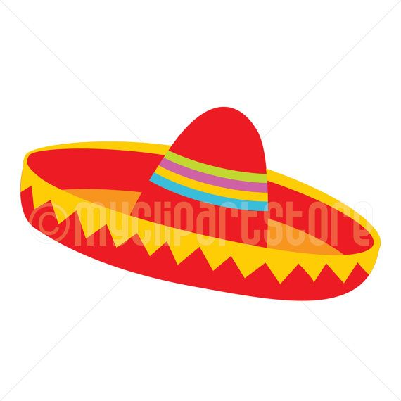 clip royalty free stock Red hat mexican . Cinco de mayo clipart sombrero.