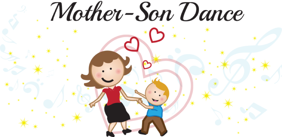 clip art black and white library Mother And Son Clipart at GetDrawings