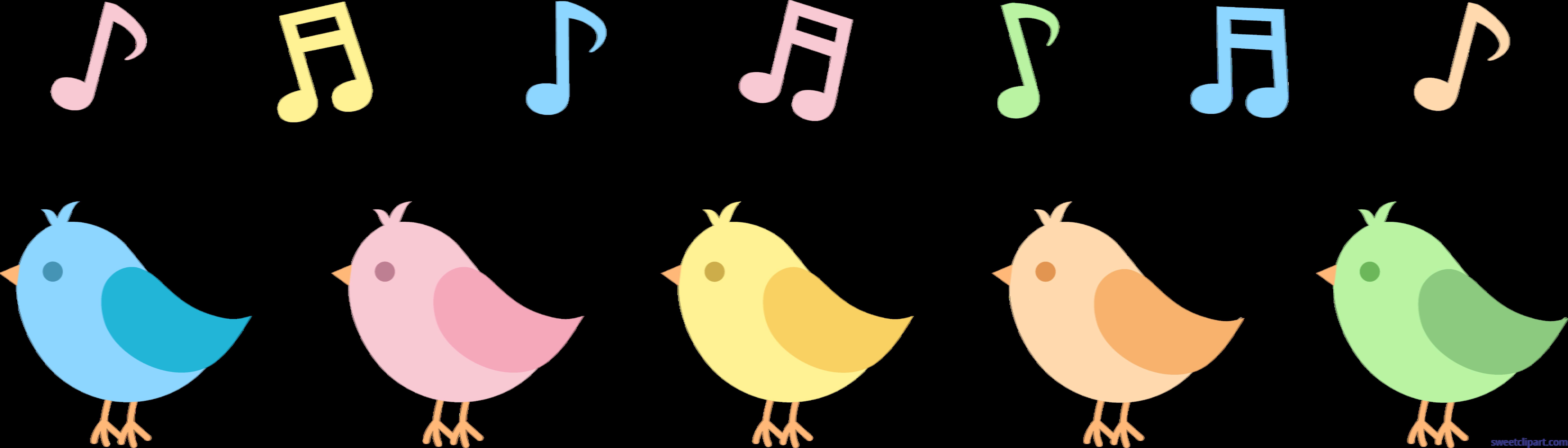 banner transparent download Birds singing clip art. Song clipart.