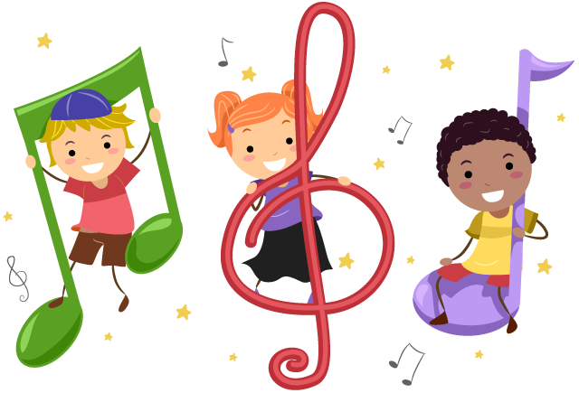 clip The song shul be. Kids singing clipart