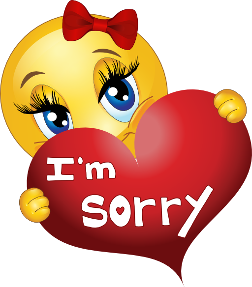 graphic transparent library Sorry clipart. Girl smiley emoticon i