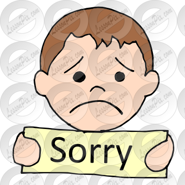 clip art royalty free stock Picture for classroom therapy. Sorry clipart sincere