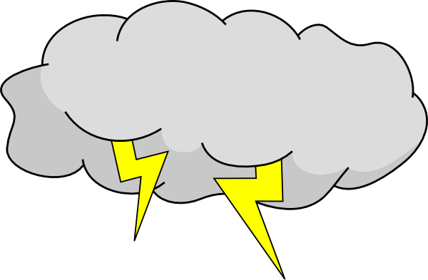 banner freeuse Thunderstorm bad weather free. Thunder cloud clipart