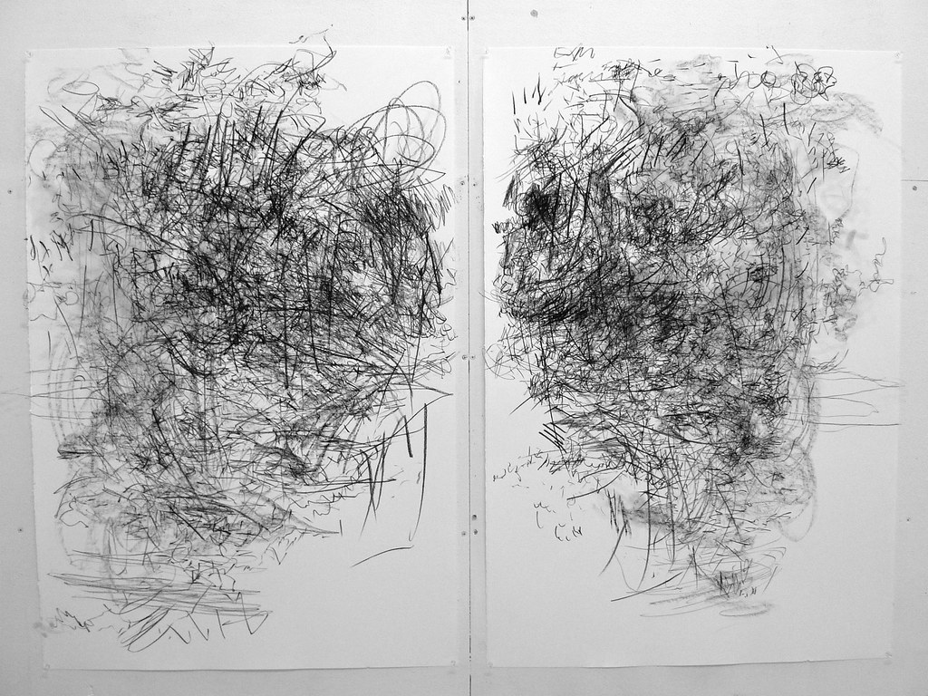 free library Sound drawing. Stereo diptych x drawn