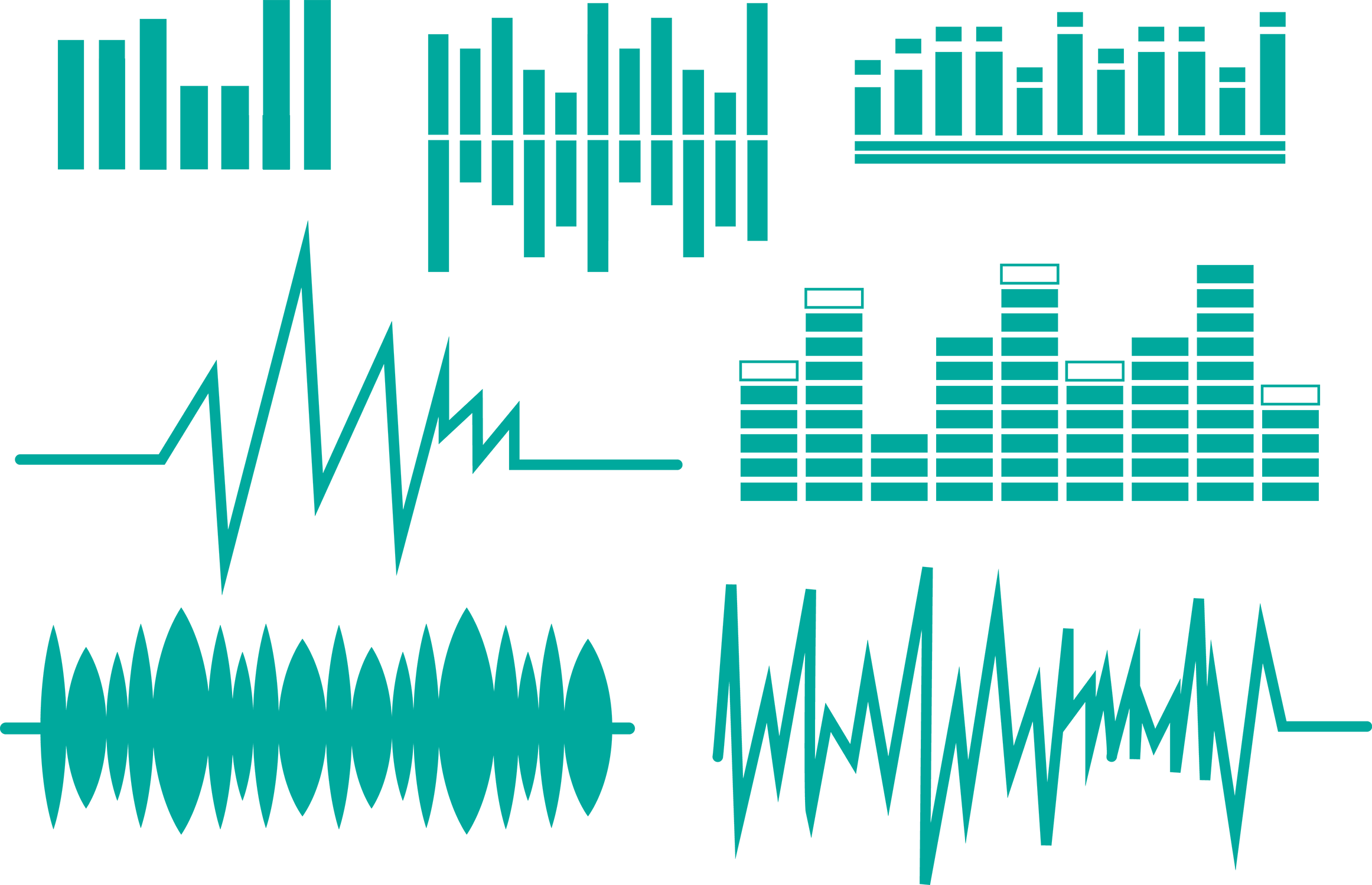 image library stock Vector blue modern. Sound wave euclidean equalization