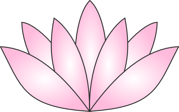 image black and white Lotus Clipart easy draw