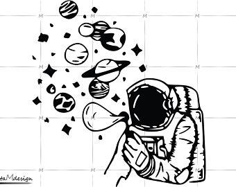 jpg transparent stock Space svg. Astronaut file etsy