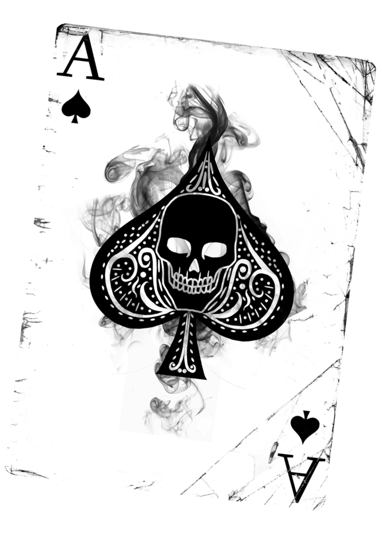 clip transparent download Skull png ace of. Spade drawing.