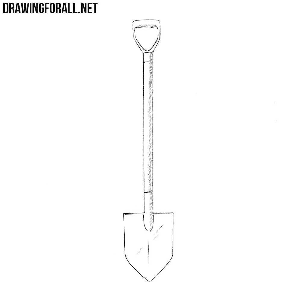 svg freeuse library Spade drawing. How to draw a.