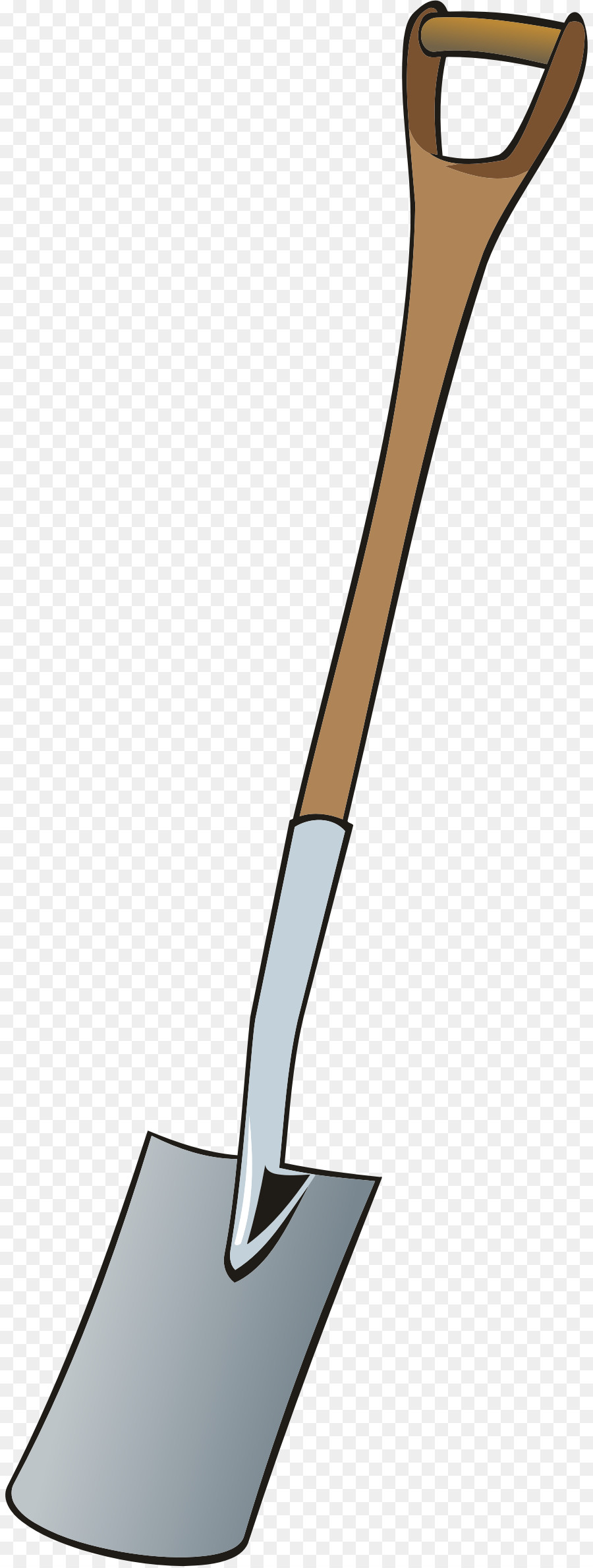 clipart royalty free Spade drawing. Bucket and clipart shovel.