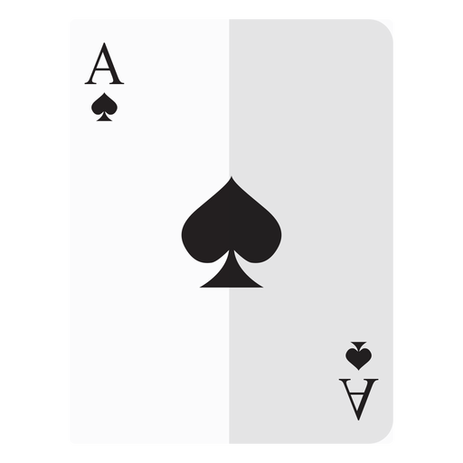 jpg black and white Ace of spades card icon