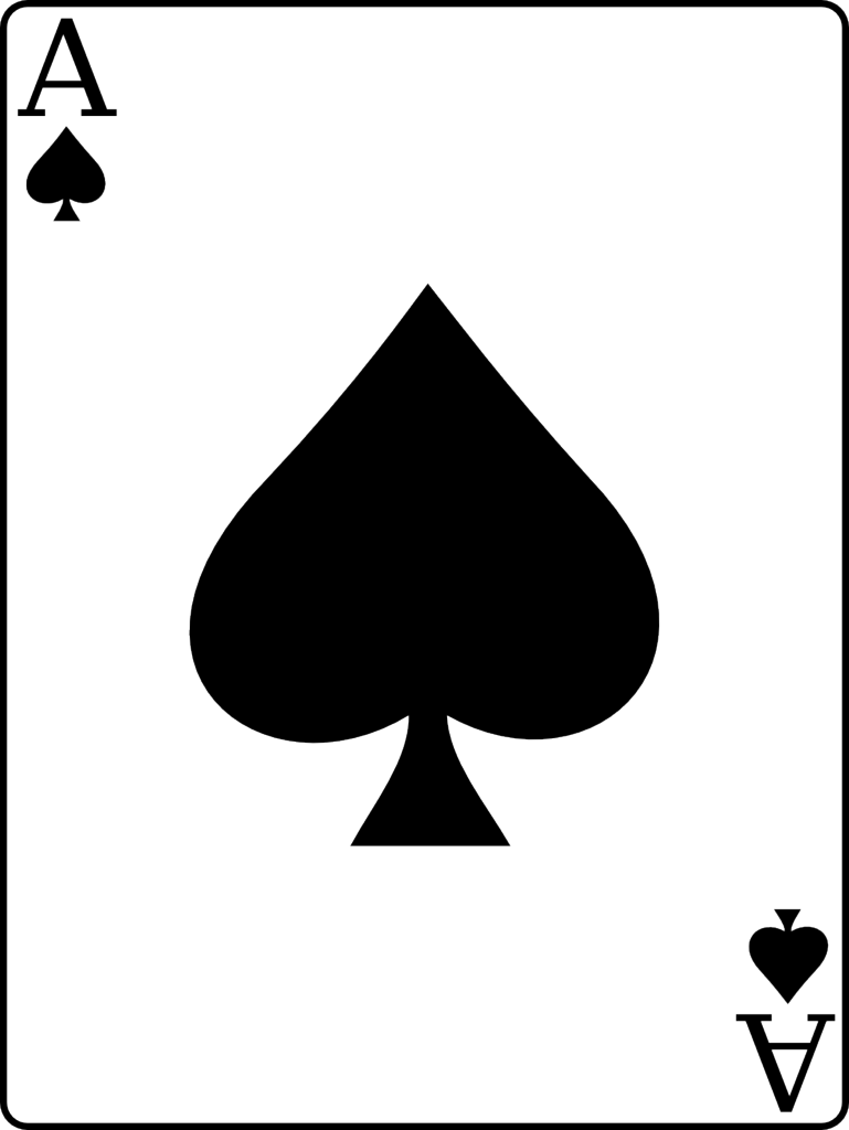 graphic free stock Ace of Spades
