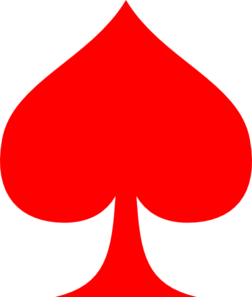 jpg library Red Spade Ace Clip Art at Clker