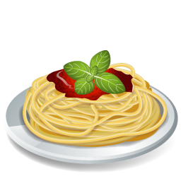 graphic Dish Pasta Spaghetti Icon