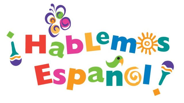 image black and white Center hablemos espanol after. Clipart spanish class.