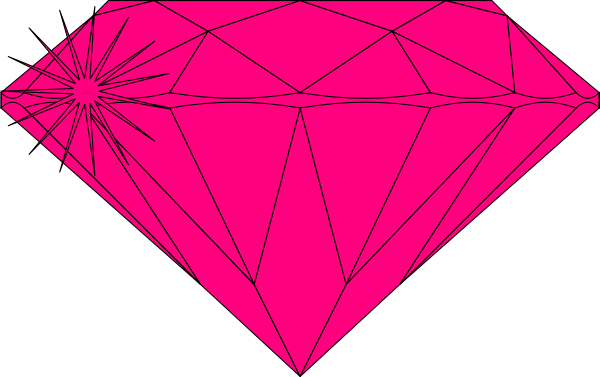 png black and white stock Pink Sparkle Diamond Clip Art at Clker
