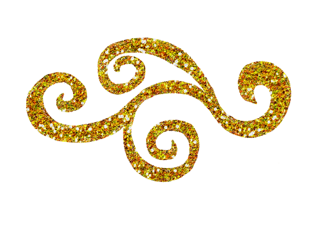 clip black and white library Gold Glitter Swirl Clipart