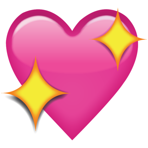 banner freeuse stock Download Sparkling Pink Heart Emoji Icon