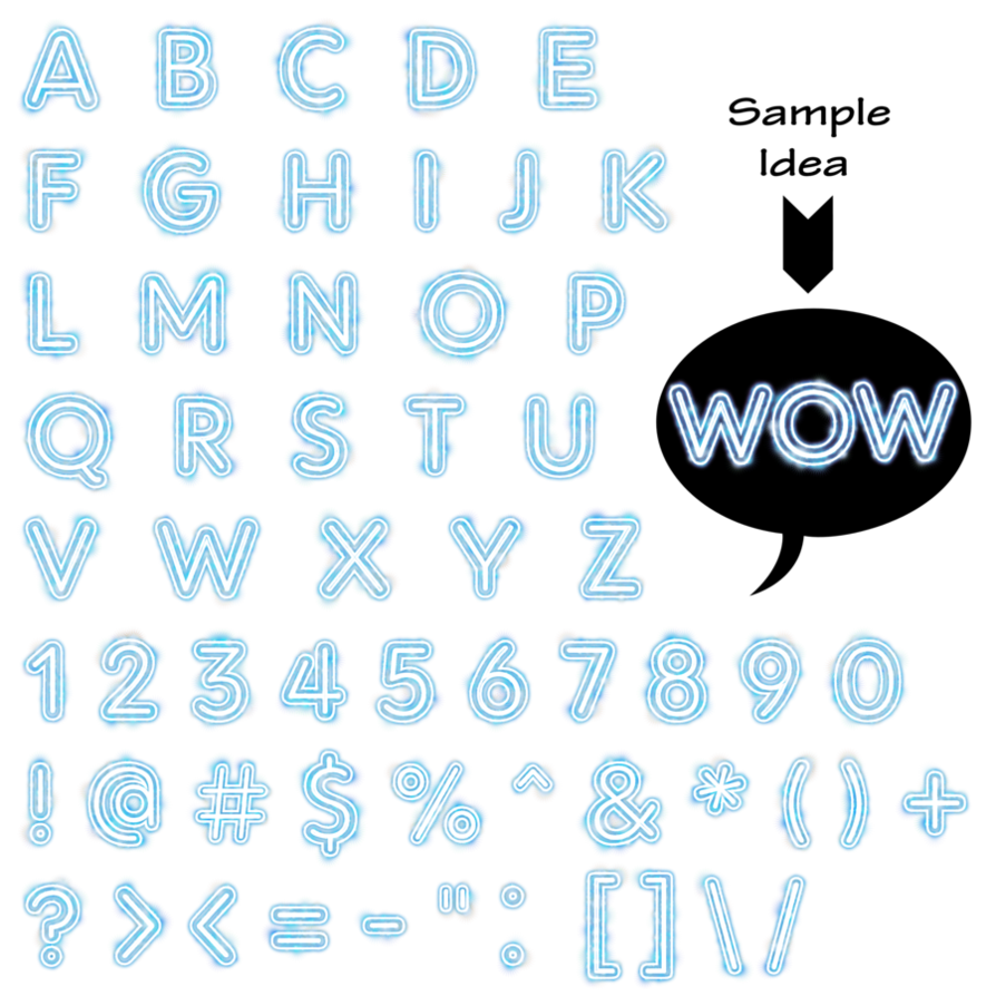 graphic library Blue alphaset by victorian. Sparkles clipart stardust