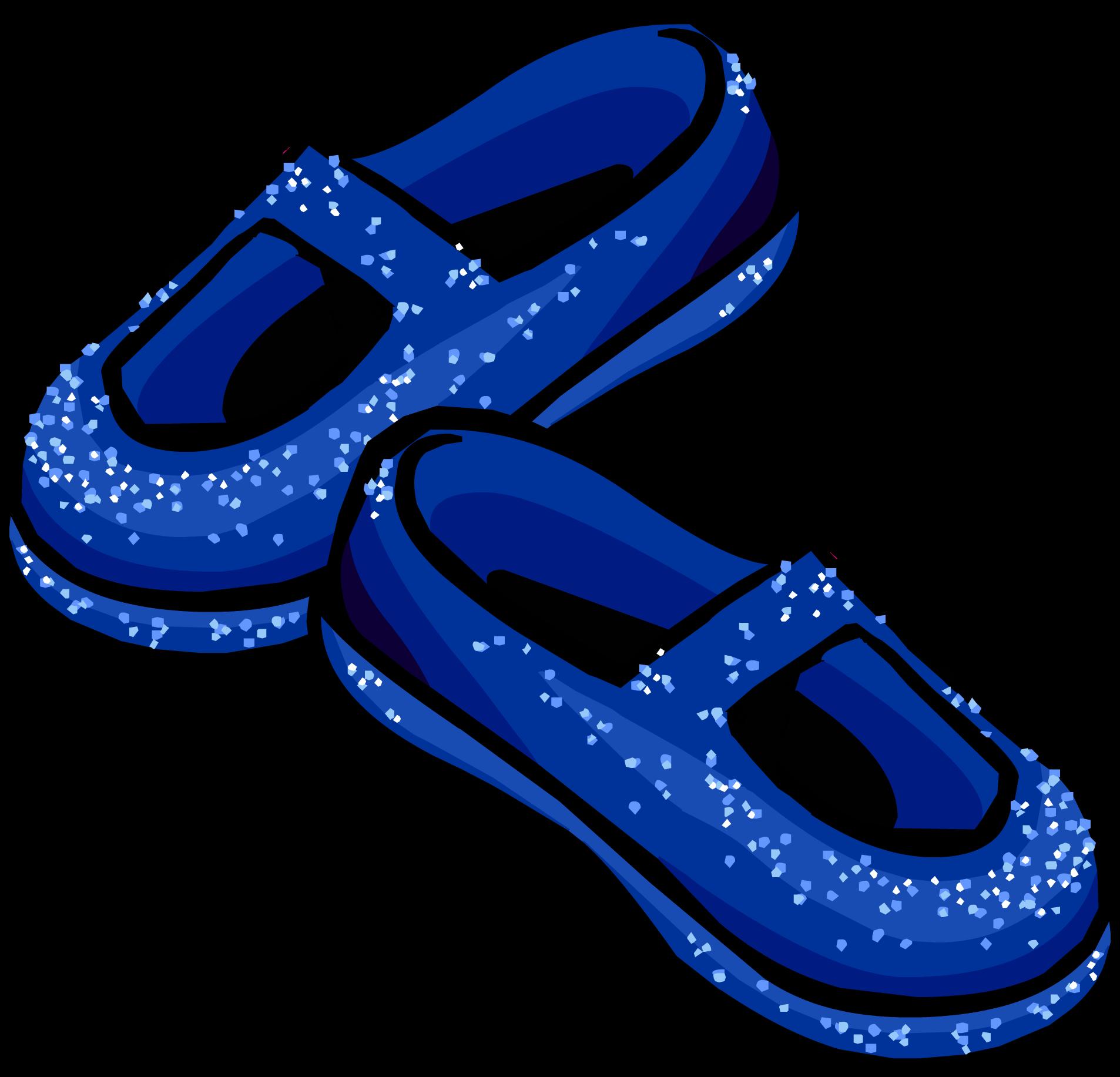 banner transparent Sparkles clipart stardust. Blue slippers club penguin