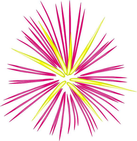 graphic download Sparks clipart. Pink and yellow clip.