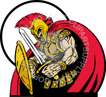 svg transparent With shield and sword. Spartan clipart