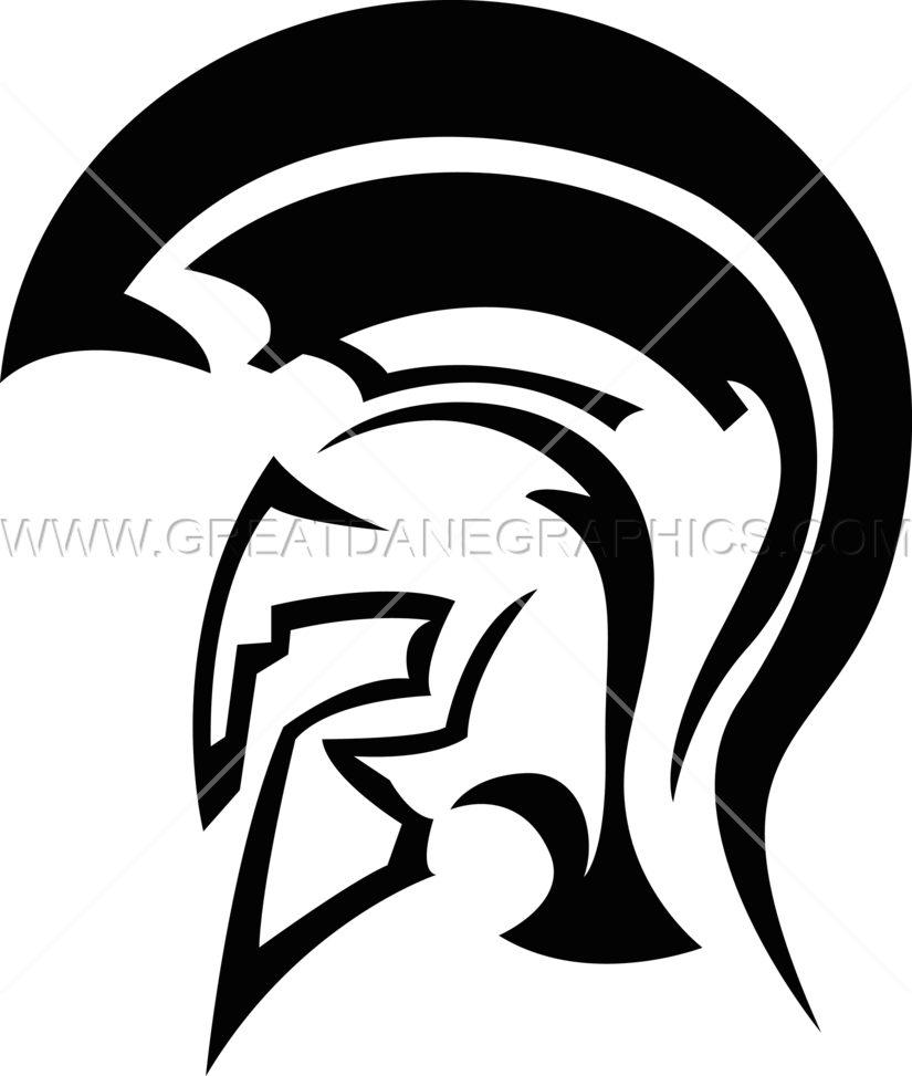 banner free Helmet production ready artwork. Spartan clipart