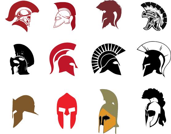 clip freeuse download Spartan Helmet Silhouette at GetDrawings