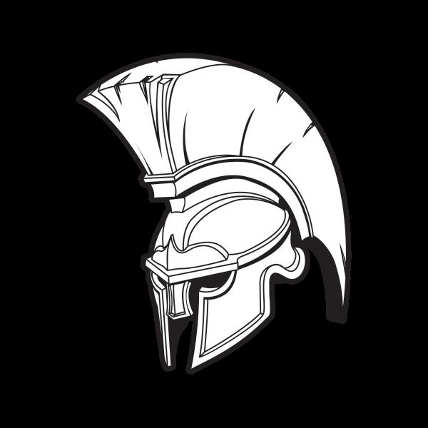 png black and white Greek clipart battle helmet. Spartan drawing at getdrawings