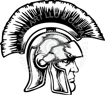 graphic freeuse download Spartan head facing right