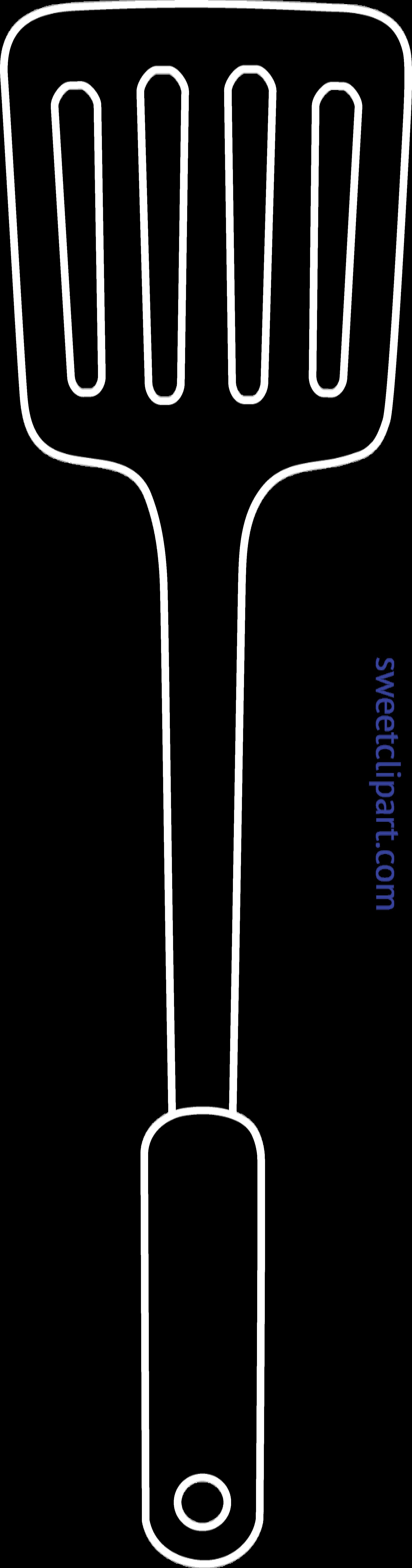 vector black and white download Spatula Silhouette Clip Art