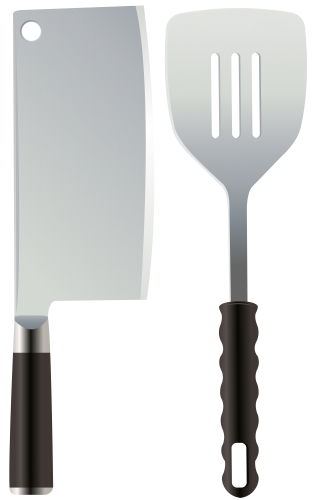 svg transparent stock Kitchen knife png clip. Spatula clipart black and white
