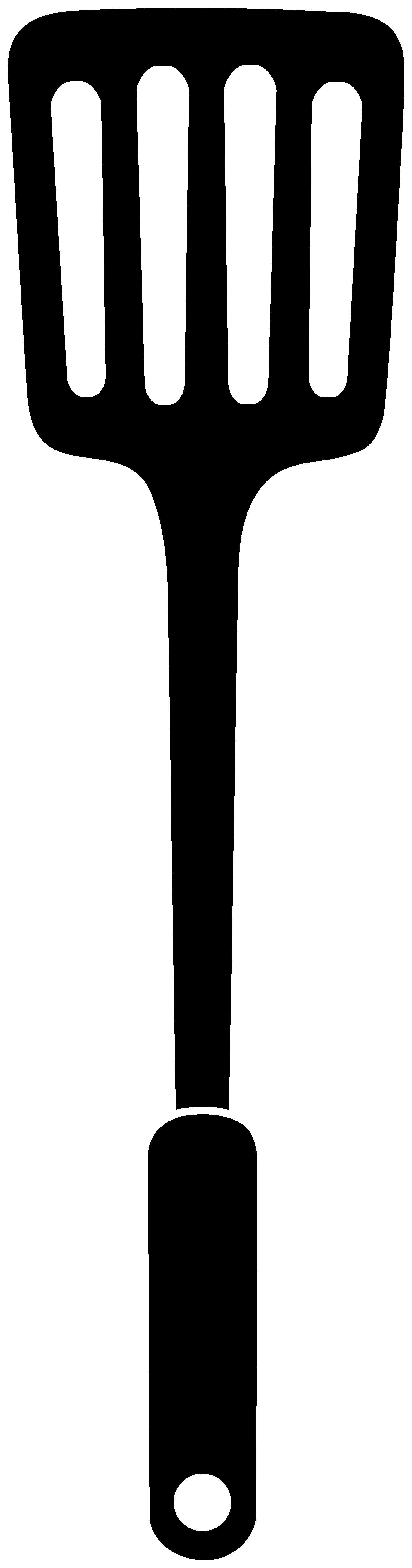 vector transparent stock Spatula Silhouette