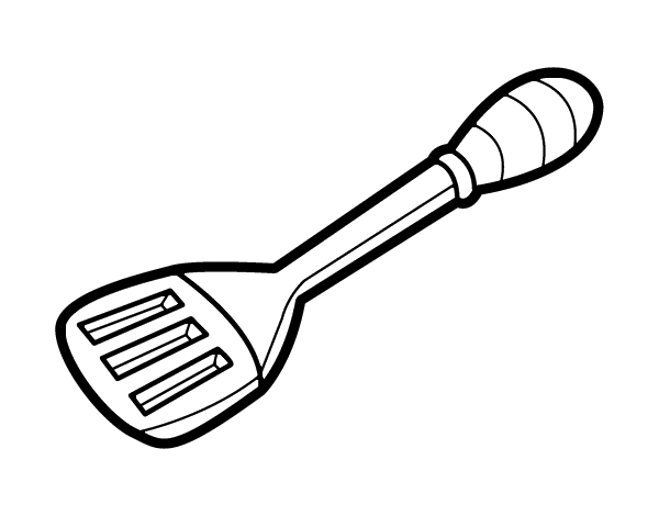 picture library library Spatula coloring page