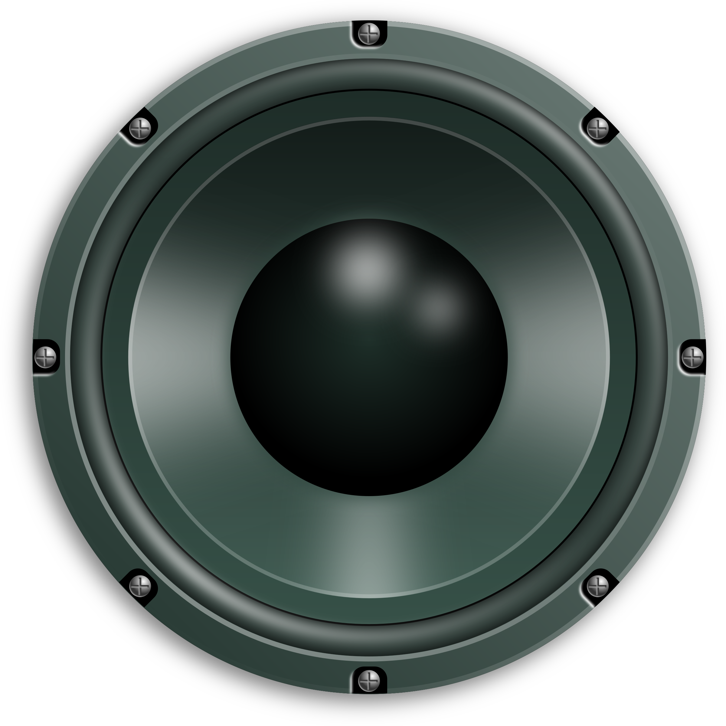 clip black and white library Audio speakers PNG free download