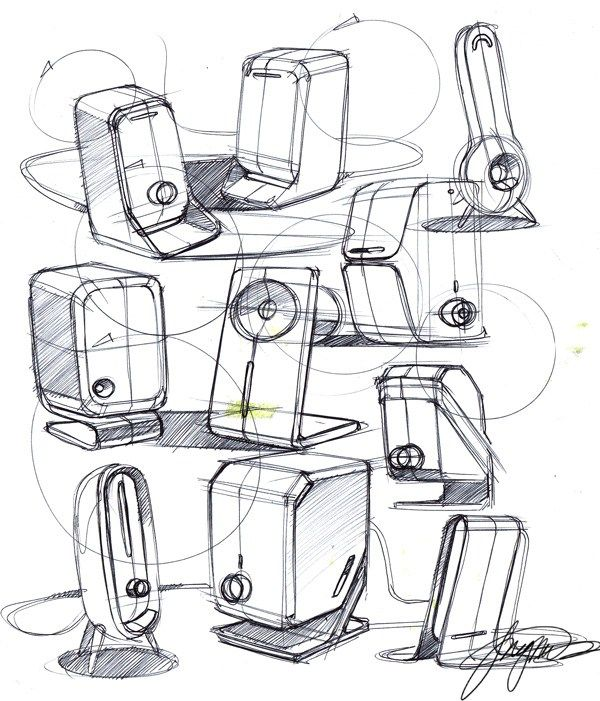 vector transparent library speakers drawing sketch #140956554