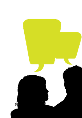 png transparent download Heads and speech bubble. Speaking clipart.